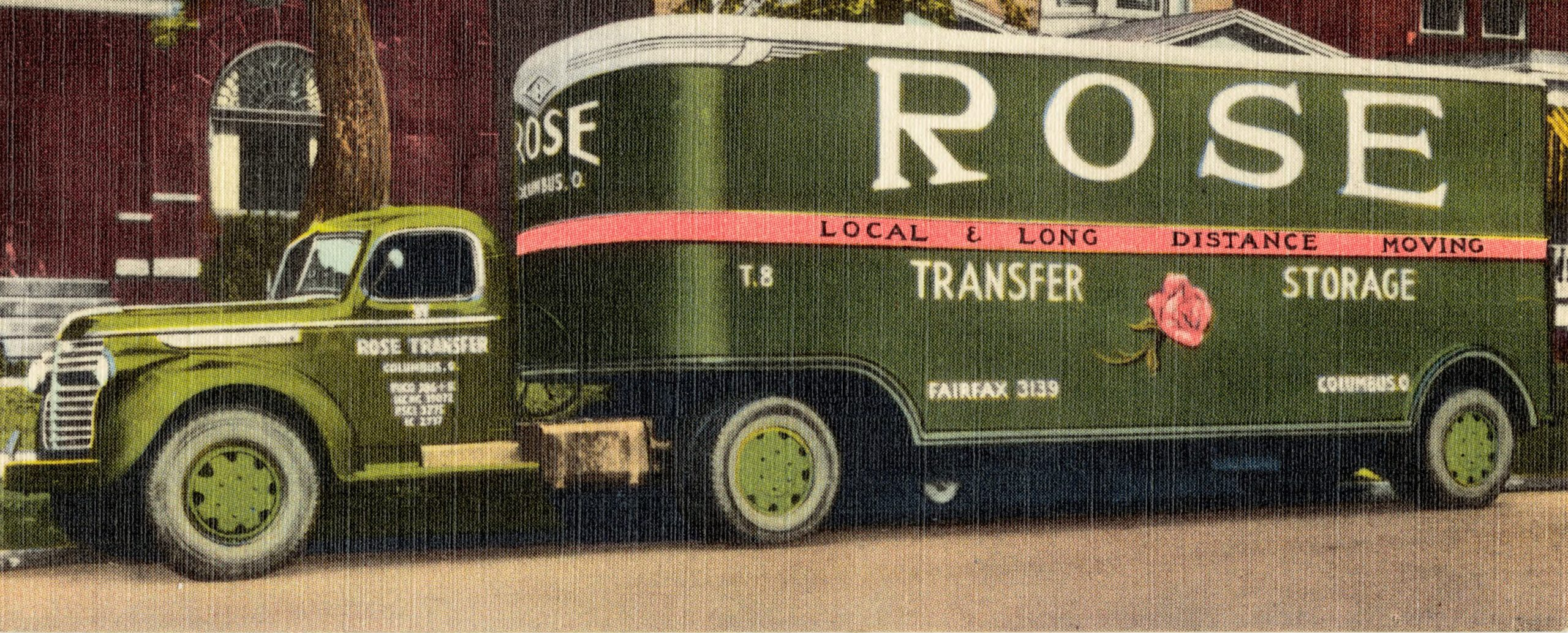 old drawing of Rose Transfer & Storage truck