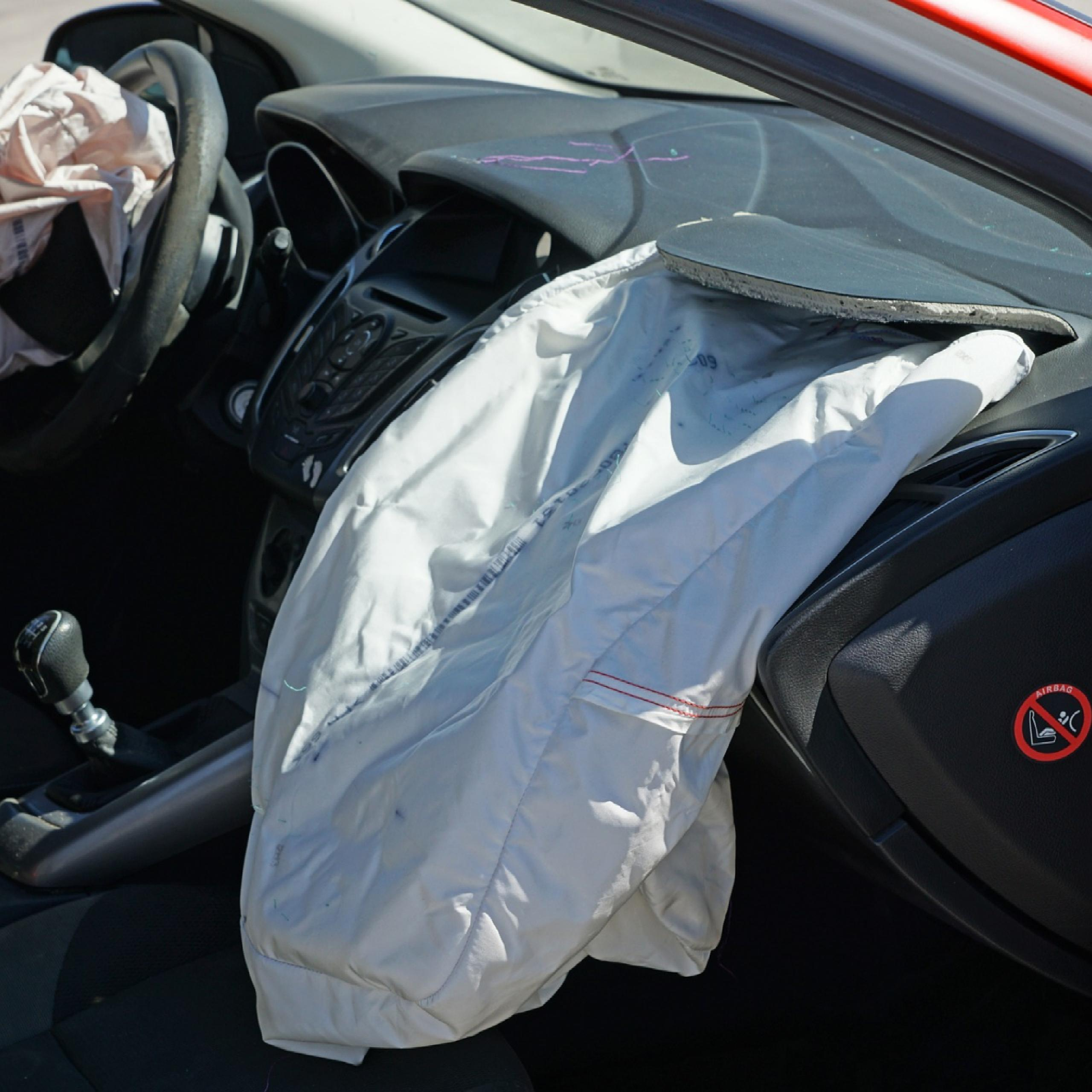 car airbag after auto accident