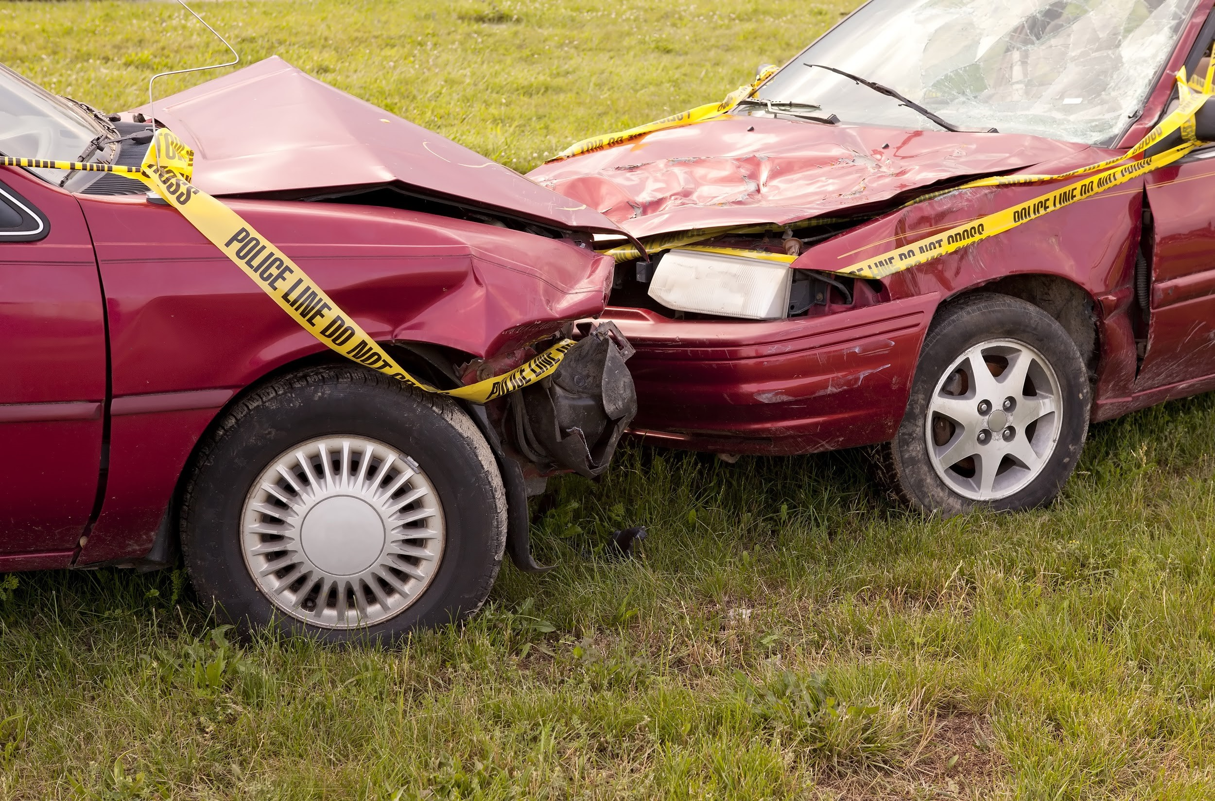 head on collision car accident