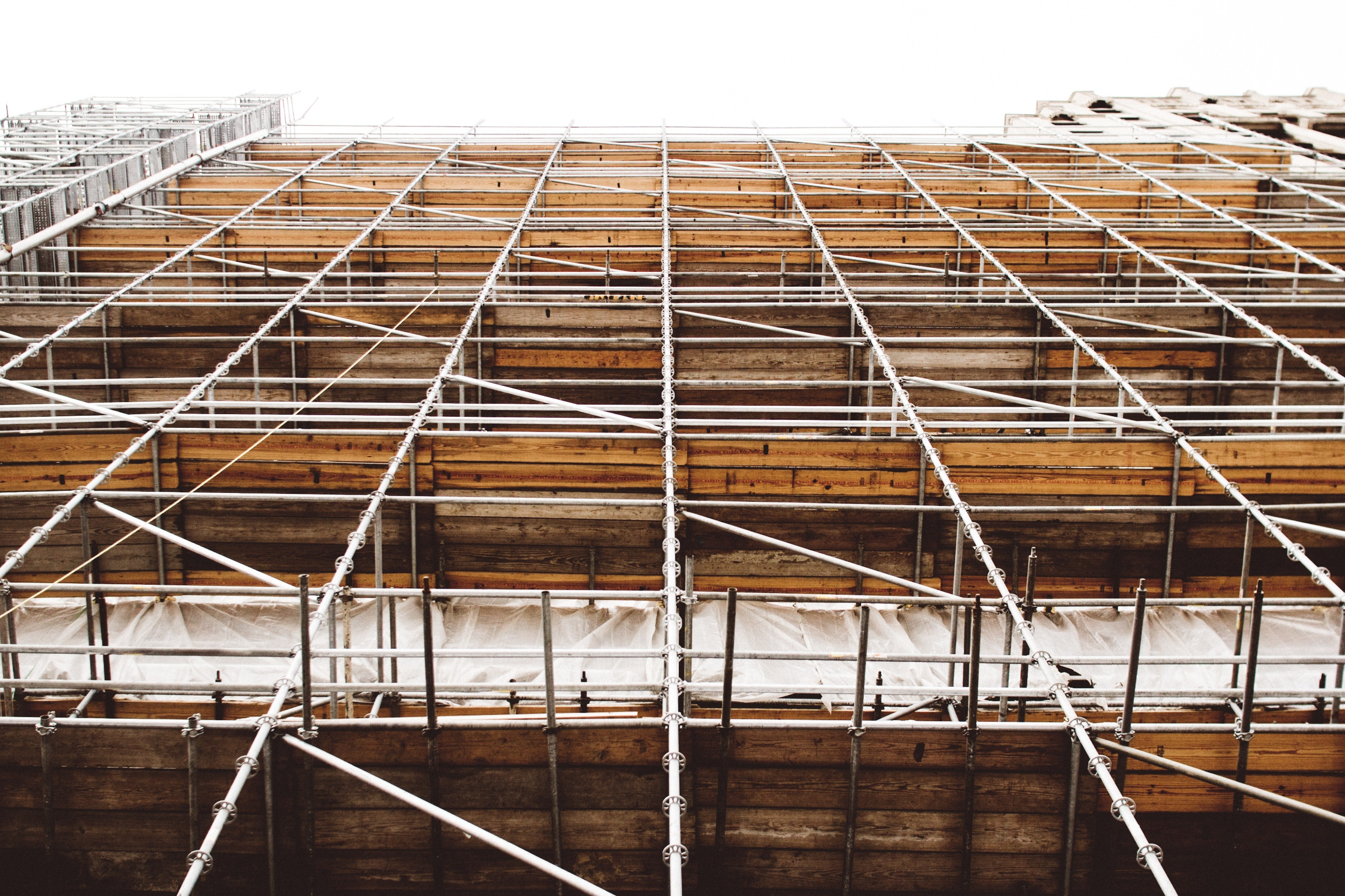building with scaffolding
