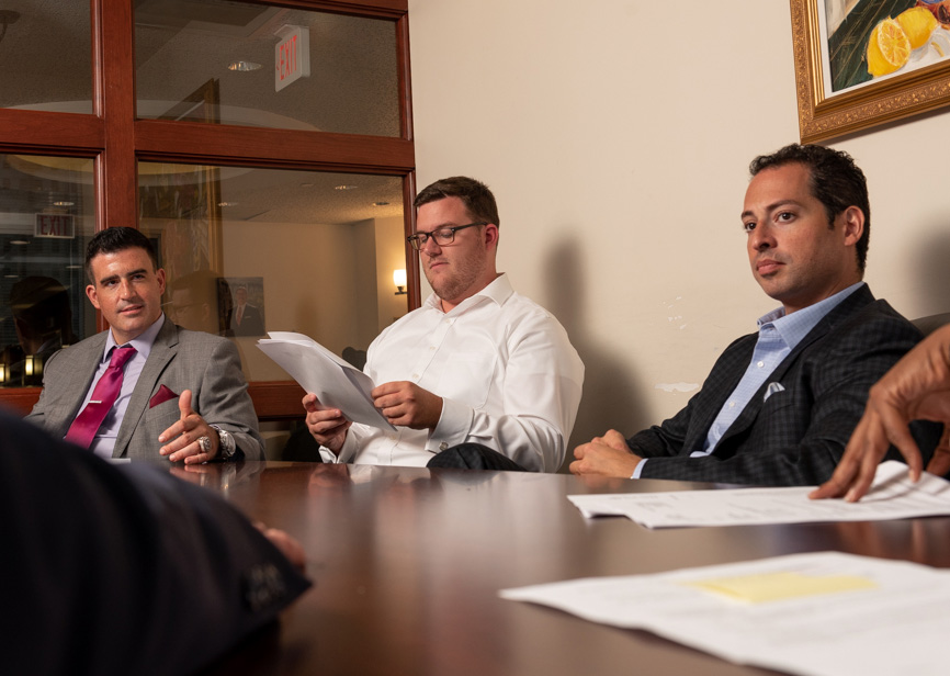 Spear Greenfield Personal Injury Attorneys legal team in meeting