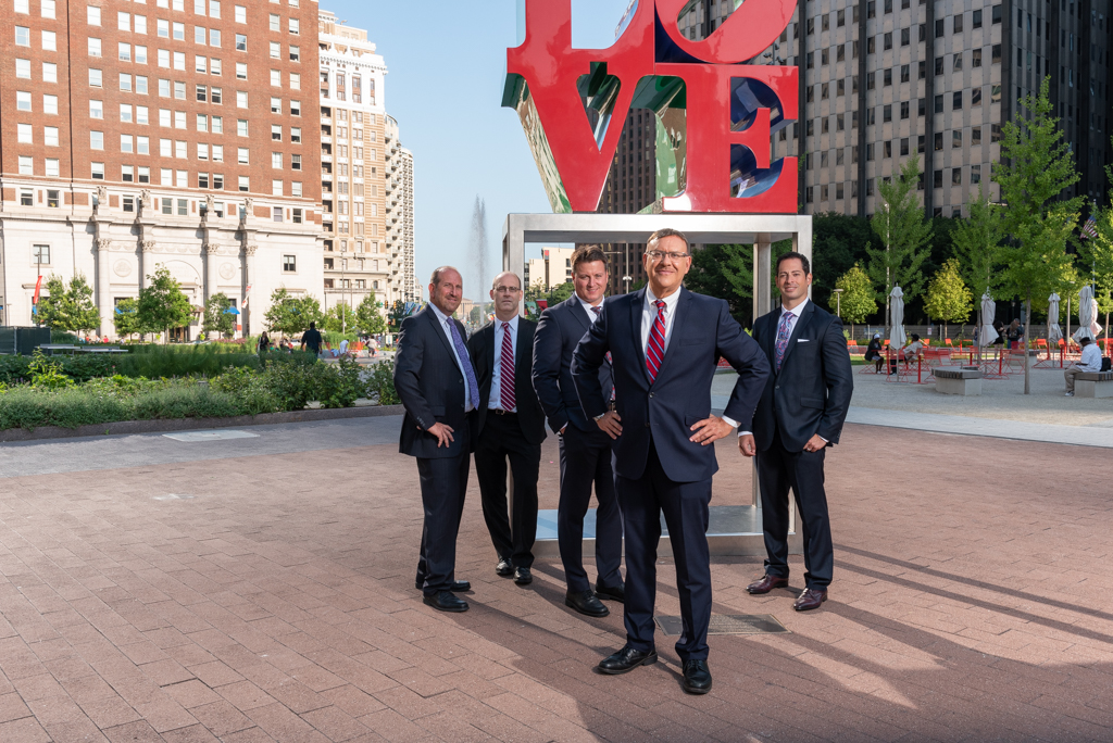 Spear Greenfield legal team in Philly Love Park