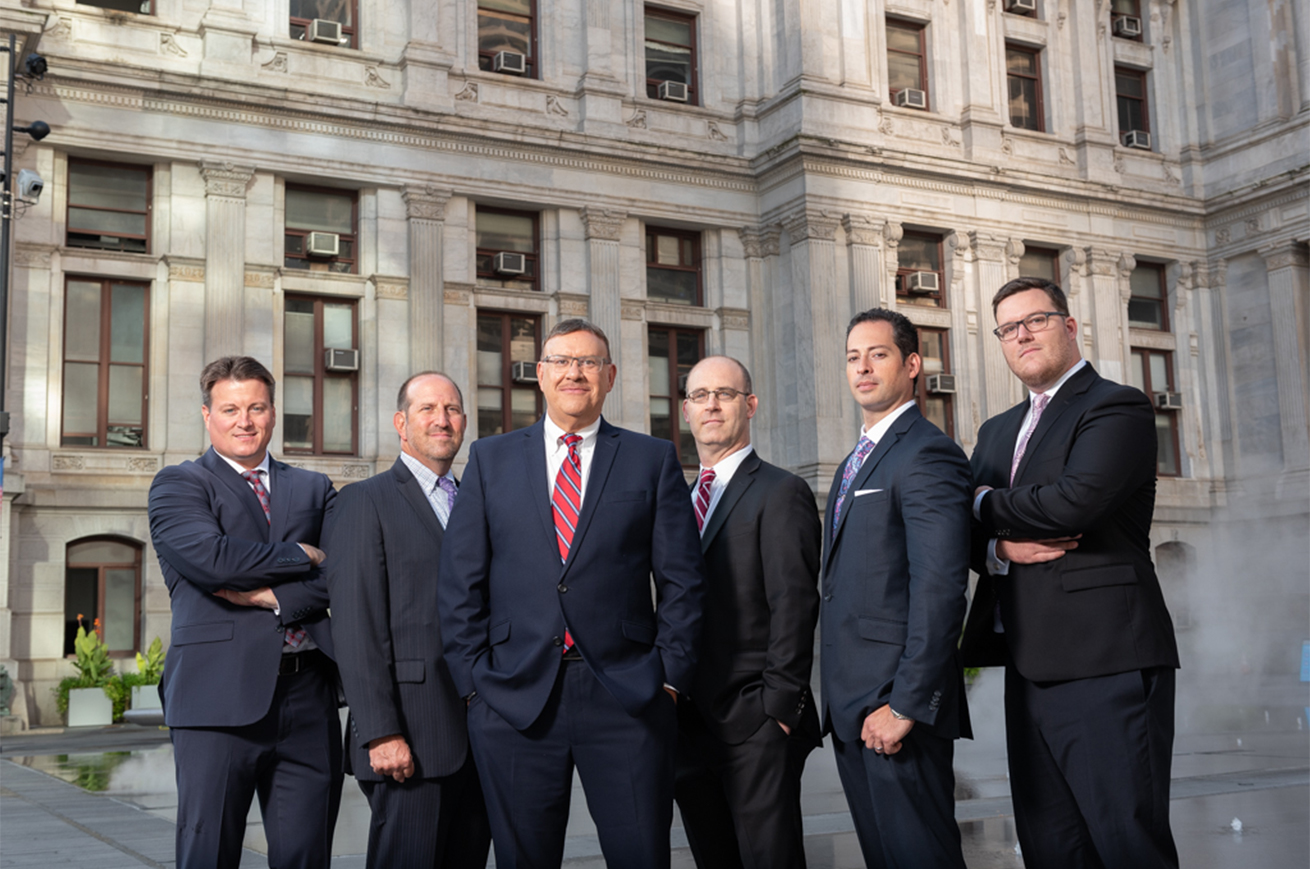 Spear Greenfield Personal Injury Lawyers in front of Philadelphia City Hall